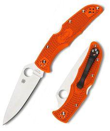 Spyderco Endura Flat Ground Orange C10FPOR